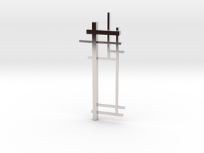 De Stijl: Composition No. 2 in Rhodium Plated Brass