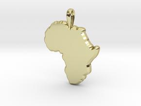 Mapa Mudo de Africa in 18k Gold Plated Brass