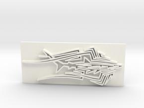 Shark1 in White Processed Versatile Plastic