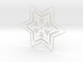 Snowflakes Series II: No. 2 in White Natural Versatile Plastic
