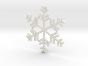 Snowflakes Series II: No. 8 in White Natural Versatile Plastic