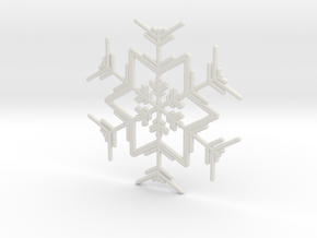 Snowflakes Series I: No. 4 in White Natural Versatile Plastic
