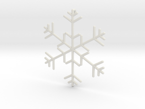 Snowflakes Series I: No. 11 in White Natural Versatile Plastic