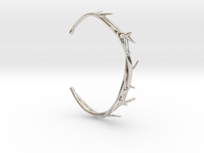 Thorn Bracelet in Rhodium Plated Brass