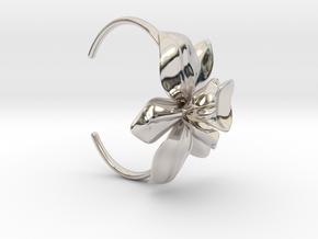 Orchid Bracelet- Metal Version in Rhodium Plated Brass