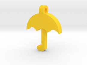 Umbrella Pendant in Yellow Strong & Flexible Polished