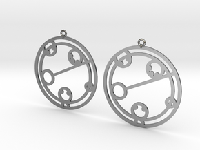 Kaelyn - Earrings - Series 1 in Fine Detail Polished Silver