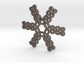 Knotwork Snowflake in Polished Bronzed Silver Steel