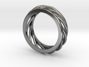 ring 1 in Fine Detail Polished Silver