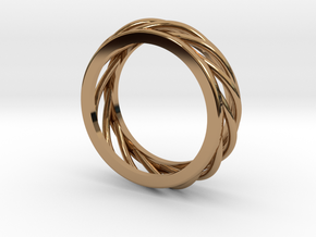 ring 1 in Polished Brass