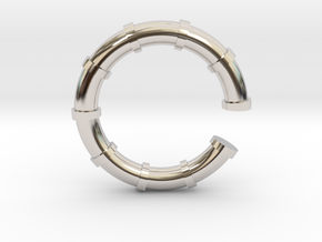 Bamboo (Part 1) in Rhodium Plated Brass