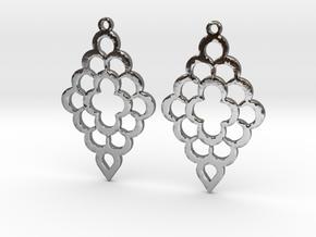 Diamond Shaped Shaped Earrings in Polished Silver