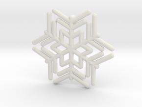 Snowflakes Series III: No. 12 in White Natural Versatile Plastic