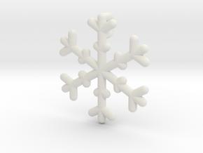 Snowflakes Series III: No. 19 in White Natural Versatile Plastic