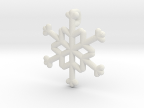 Snowflakes Series III: No. 21 in White Natural Versatile Plastic