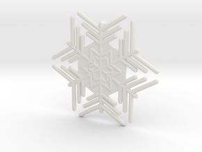Snowflakes Series III: No. 4 in White Natural Versatile Plastic