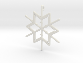 Snowflakes Series III: No. 7 in White Natural Versatile Plastic