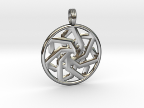 PEACEFUL CLARITY in Fine Detail Polished Silver