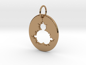Mandelbrot Pendant in Polished Brass
