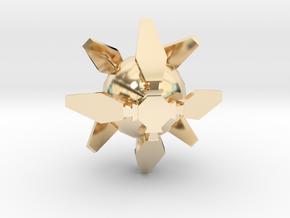 Ingress Portal Shield Pendant (1 inch)  in 14k Gold Plated Brass