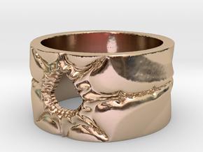 Mandelbrot Ring 2 Ring Size 8.25 in 14k Rose Gold
