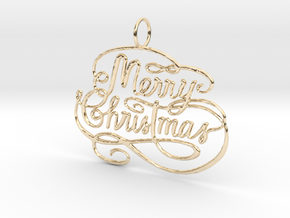 Christmas Tree Ornament  in 14K Yellow Gold