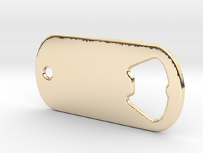 Battlefield Inspired Bottle Opener Dog Tag in 14k Gold Plated Brass