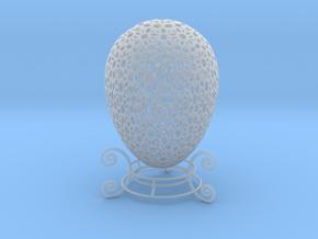 Beautiful Mini Ornamental Egg (4cm Tall) w/ stand  in Smoothest Fine Detail Plastic