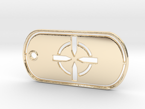 Battelfield 4 Ultimate Recon Dog Tag in 14K Yellow Gold