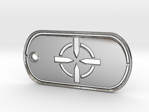 Battelfield 4 Ultimate Recon Dog Tag in Fine Detail Polished Silver