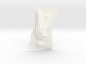Shroud shape penholder 004 in White Processed Versatile Plastic