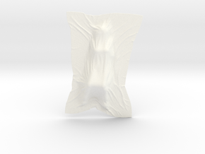 Shroud shape penholder 007 in White Processed Versatile Plastic