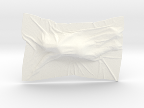 Shroud shape penholder 010 in White Processed Versatile Plastic