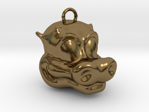 Little Dragon Head in Polished Bronze