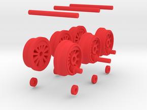 Steam Locomotive T3 Scale N Part 003 in Red Processed Versatile Plastic