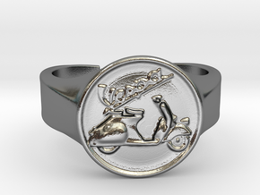 Vespa Ring in Polished Silver