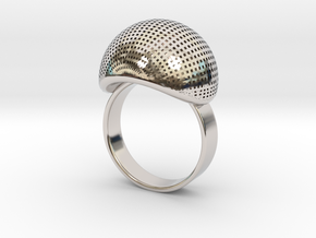 VESICA PISCIS Ring Nº1 in Rhodium Plated Brass