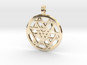 ECLIPTIC HORIZON in 14k Gold Plated Brass
