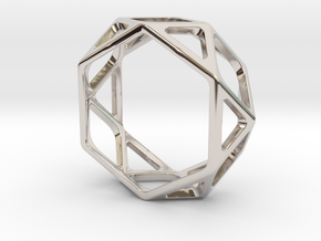 Structural Ring size 10 (multiple sizes) in Platinum