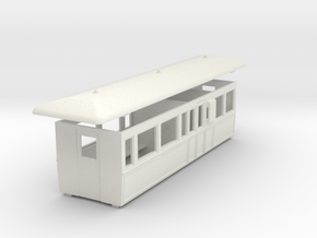 OO9 tramway center brake composite coach  in White Strong & Flexible