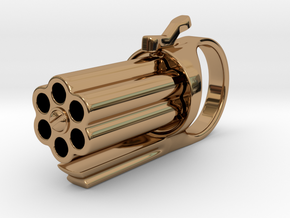 Finger Revolver in Polished Brass