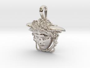 Medusa Rondanini pendant in Rhodium Plated Brass