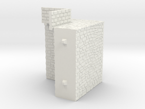 NF10 Modular fortified wall in White Natural Versatile Plastic
