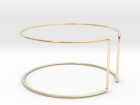 Line Bangle in 14k Gold Plated Brass