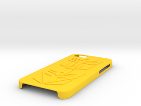 iPhone 6 Case - Autobots & Decepticons in Yellow Processed Versatile Plastic