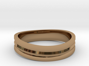 Ring of awesome in Polished Brass