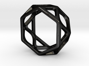 Structural Ring size 5 in Matte Black Steel
