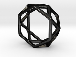 Structural Ring size 7 in Matte Black Steel