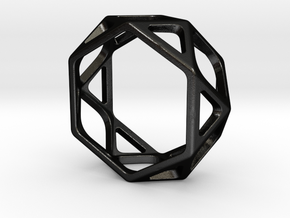 Structural Ring size 7,5 in Matte Black Steel