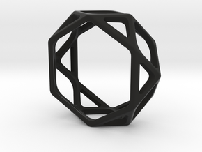 Structural Ring size 8,5 in Black Natural Versatile Plastic
